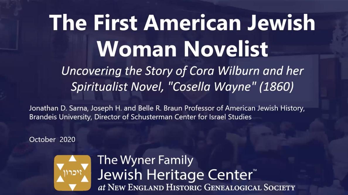 First American Jewish Women Novelist